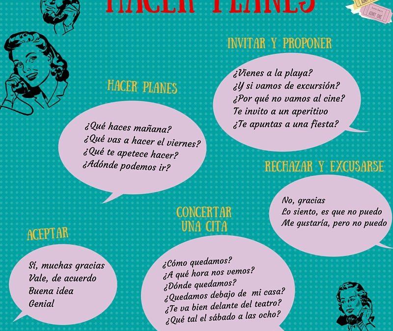Hacer planes en español