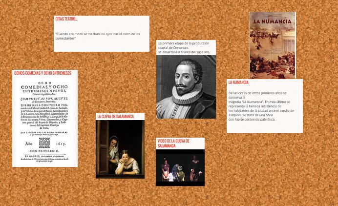 obra de cervantes: poesía,novela,teatro
