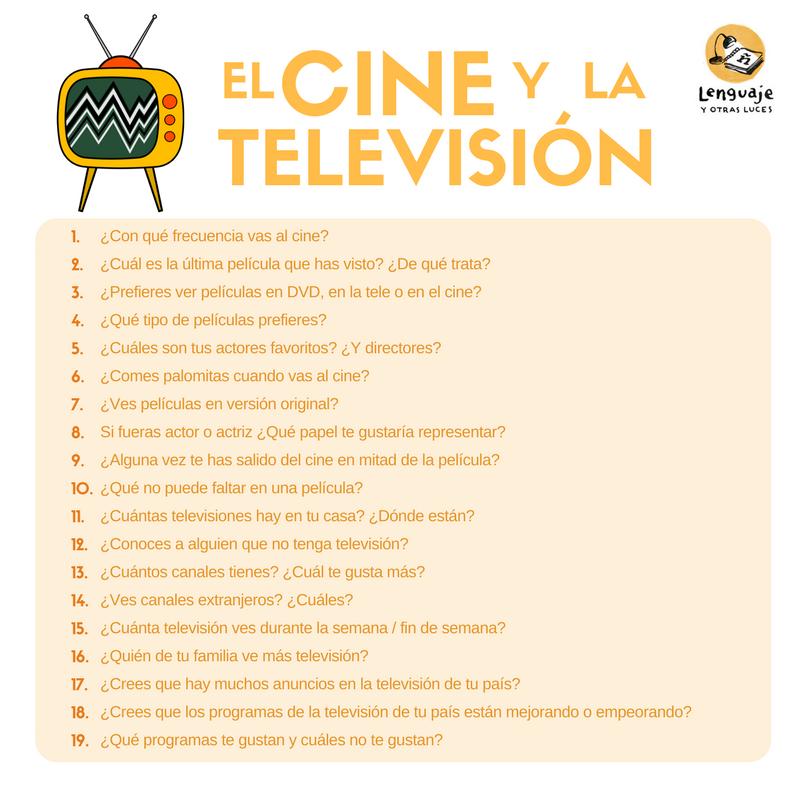 Cuestionario cine y televisión