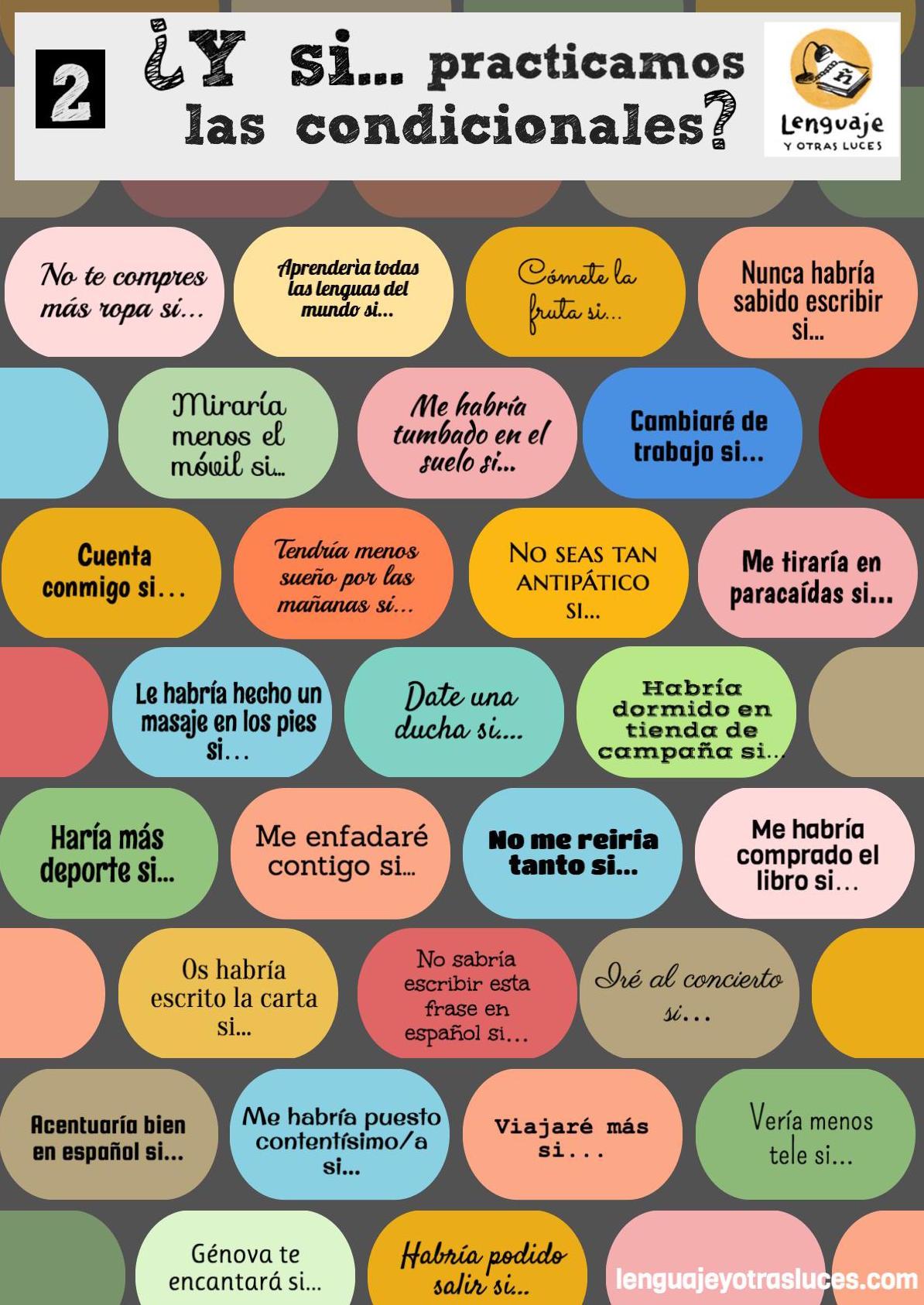 Actividades ELE: las oraciones condicionales en español