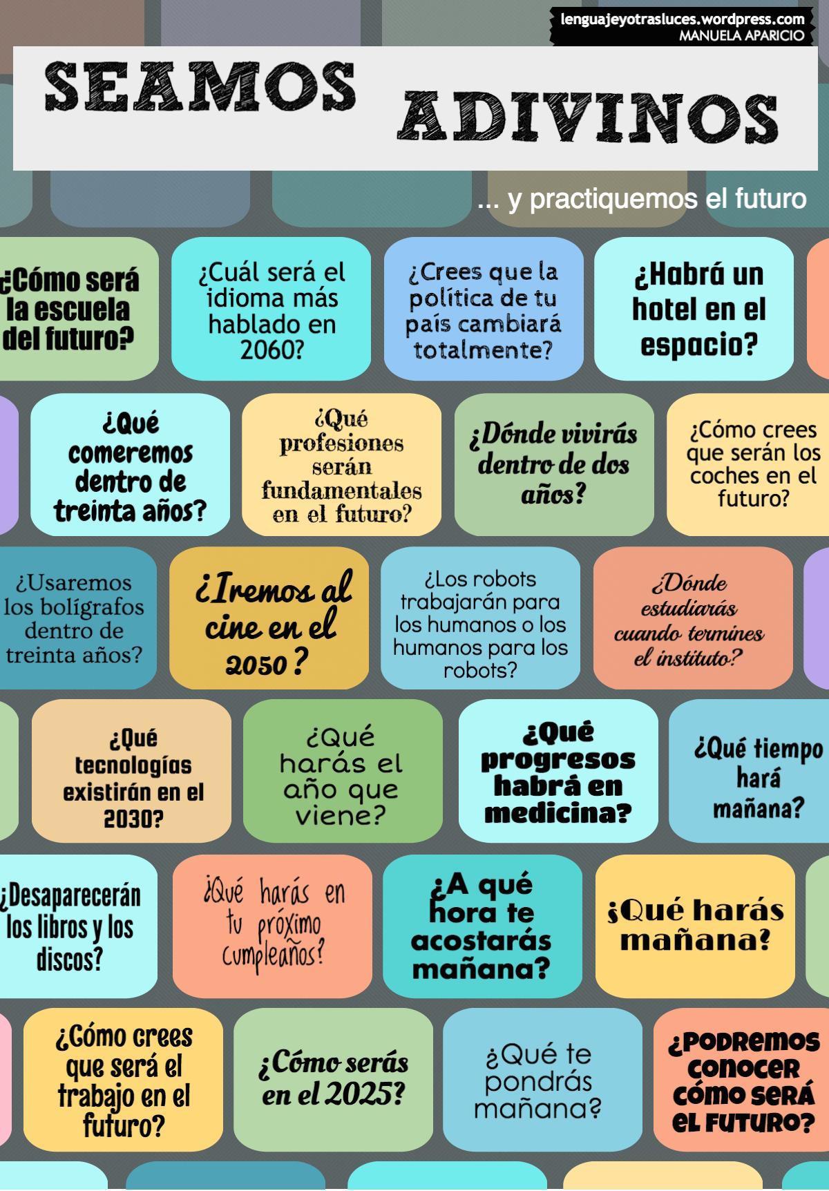 Seamos adivinos… y practiquemos el futuro en español